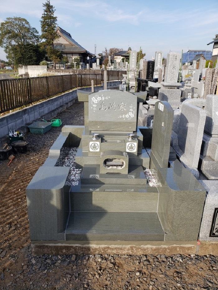 本小松石でお墓を建てることができて家族も大満足です(埼玉県草加市 島崎 正光様)