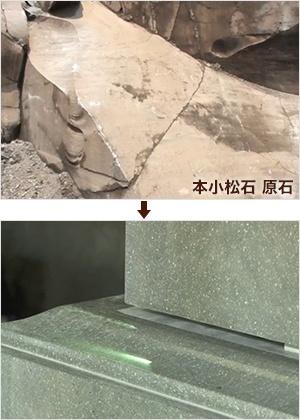 ⑪本小松石原石→研磨後