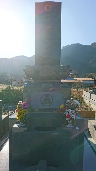 墓石 本小松石和型墓石 上限蓮華付 栃木県鹿沼市 2018041102