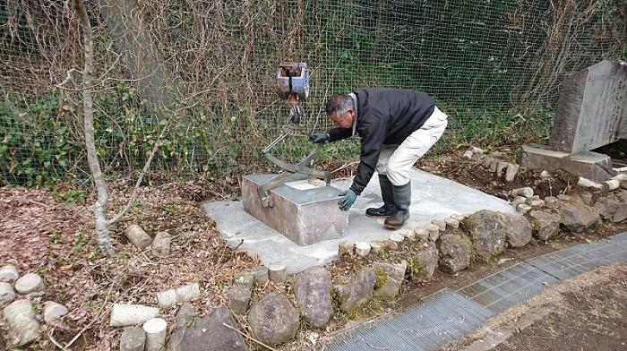 本小松石墓石2017041610