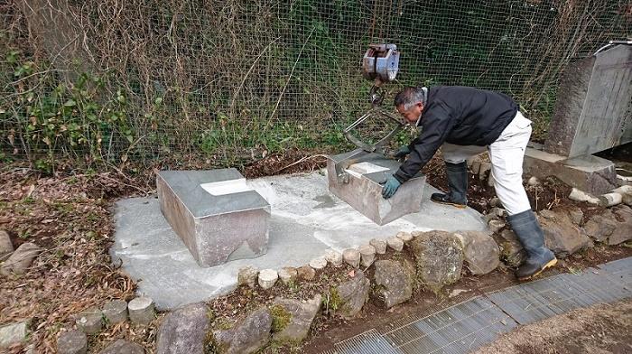 本小松石墓石2017041611