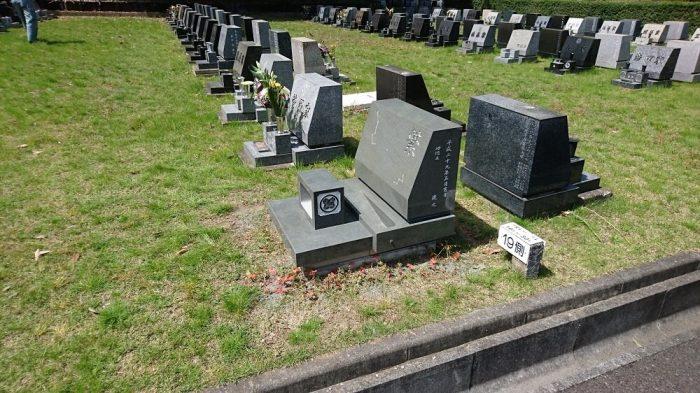八王子霊園 本小松石洋型墓石 2017051511
