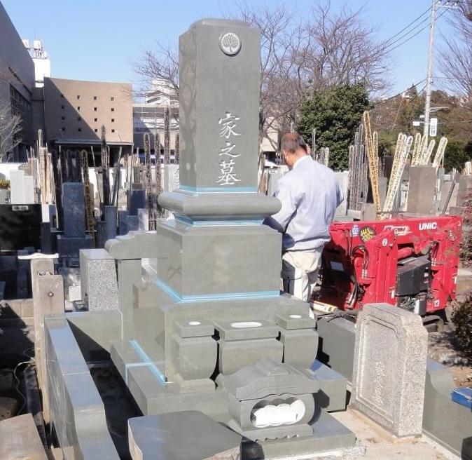 本小松石墓石 東京都杉並区 修行寺