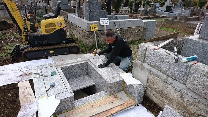 多磨霊園 国産墓石 本小松石11