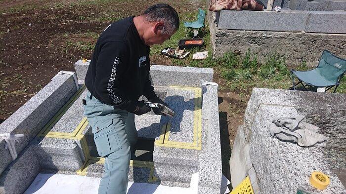 多磨霊園 和型墓石 本小松石12