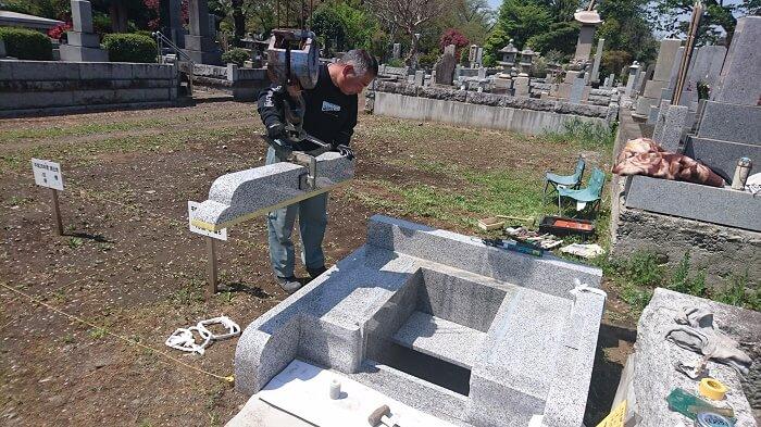 多磨霊園 和型墓石 本小松石13