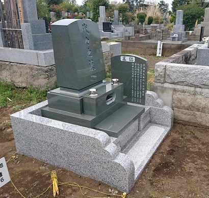 多磨霊園 本小松石洋型のお墓 2