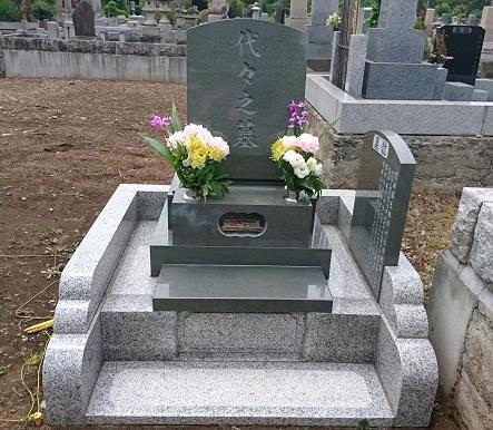 多磨霊園 本小松石洋型のお墓 3