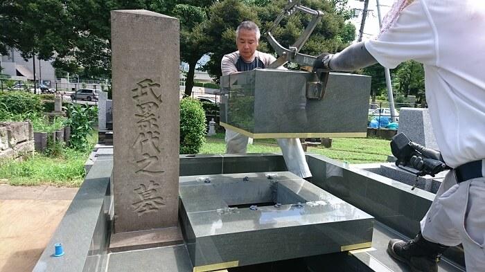 本小松石墓石 国産墓石 和型墓石 2017081707