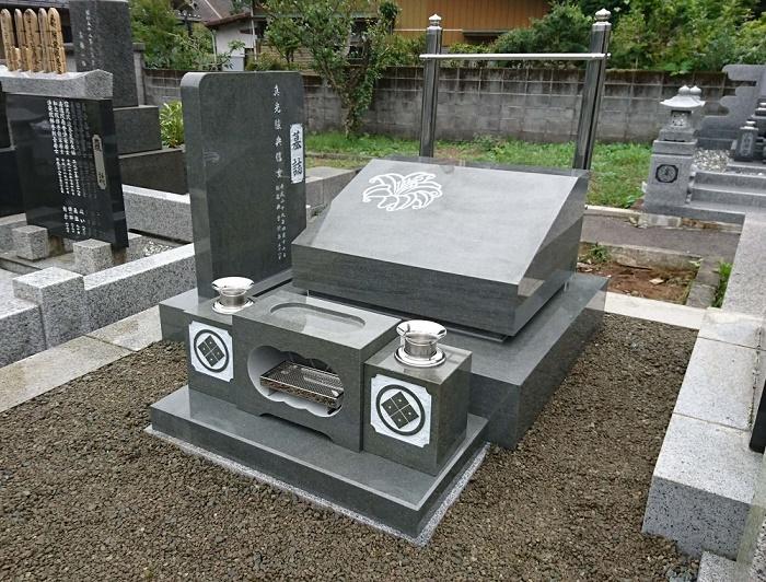 本小松石墓石 国産墓石 本小松石洋型 2017092501