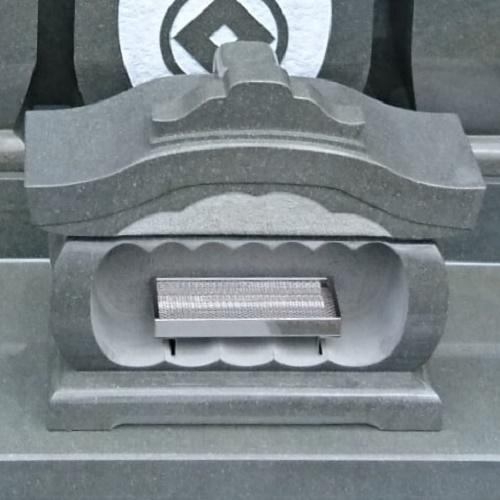 墓石 国産墓石 本小松石墓石 香炉宮前型