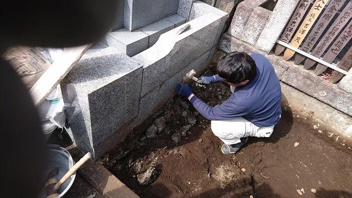 墓石 本小松石 和型墓石 横浜市 2018040806