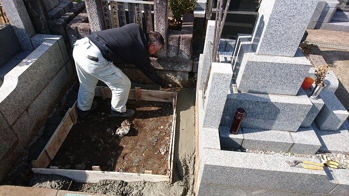 墓石 本小松石 和型墓石 横浜市 2018040809