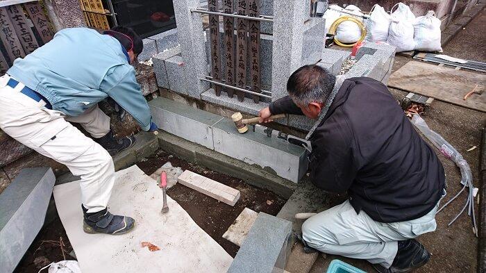 墓石 本小松石 和型墓石 横浜市 2018040811