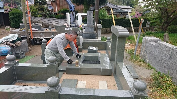 墓石 本小松石墓石 和型墓石 2018060104