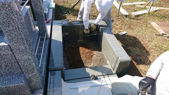 墓石 本小松石 和型墓石 2018081108